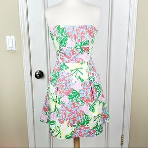 Lilly Pulitzer | Blossom Mariposa Strapless Dress